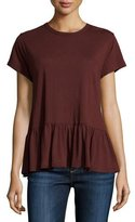 The Great The Ruffle Tee, Dark Wine