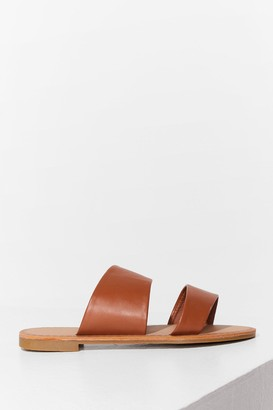 Nasty Gal Womens Born to Mule Wide Fit Flat Sandals - Tan
