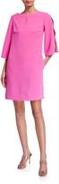 Trina Turk Larsen Split-Sleeve Crepe Dress