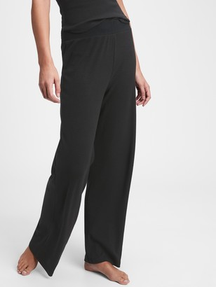 Gap Ribbed Drop Needle Wide Leg Pants