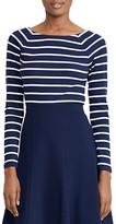 Lauren Ralph Lauren Boat Neck Stripe Top
