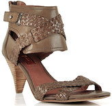 7 For All Mankind Vivica - Smoke Leather Ankle Cuff Sandal