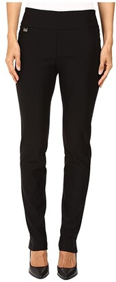 Lisette L Montreal Solid Magical Lycra Slim Pants (Black) Women's Casual Pants