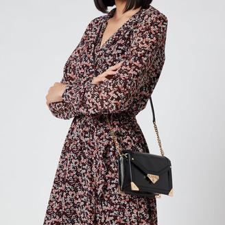 MICHAEL Michael Kors Women's Grace Small Trunk Cross Body Bag - Black
