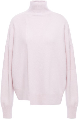 Vince Asymmetric Wool And Cashmere-blend Sweater
