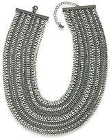 ABS by Allen Schwartz Crystal Multi-Row Necklace