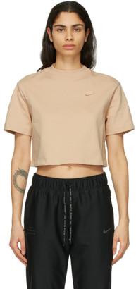 Nike Beige Jersey Sportswear T-Shirt