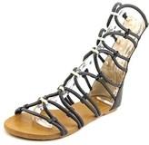 XOXO Galina Open Toe Synthetic Gladiator Sandal.