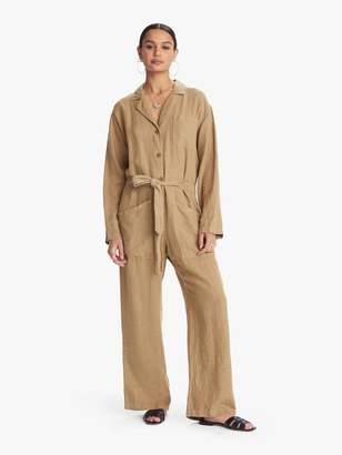 story. Overlover Magnolia True Linen Jumpsuit - Olive