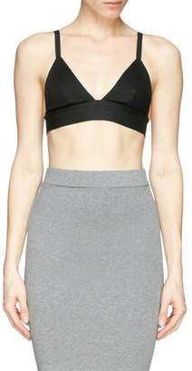 Alexander Wang Stretch Pique Triangle Bra