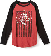 Zoo York Dahlia Heather Banner Raglan Tee - Boys