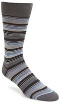 Bugatchi Men's Big Or Small Stripe Socks