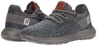 Foot Joy FootJoy Flex Coastal Spikeless (White/Grey/White) Men's Shoes