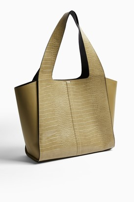 Topshop Womens Wing Taylor Olive Tote Bag - Olive