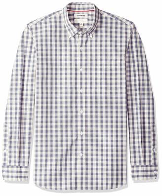 Goodthreads Amazon Brand Men's Standard-Fit Long-Sleeve Plaid Poplin Shirt with Button-Down Collar