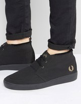 Fred Perry Shields Mid Wax Cotton Mid Sneakers