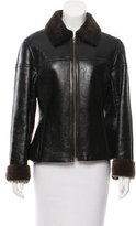 Kenzo Patent Leather Shearling Jacket
