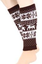 Simplicity Legging Socks Leg Warmer Knitted Boot Cover Stocking, 0138-B/W