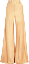 Etro Hammered-satin wide-leg pants