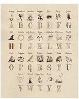 Harrods Harry Potter Magical Alphabet Print