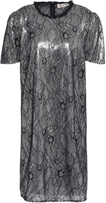 MICHAEL Michael Kors Ruffle-trimmed Lace And Sequined Woven Mini Dress