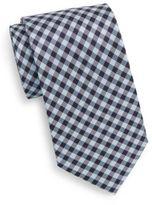 Saks Fifth Avenue Boxed Gingham Silk Tie