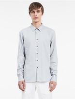 Calvin Klein Platinum Denim Snap Shirt