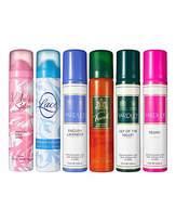 Yardley London Set of 5 Body Sprays 6TH SPRAY FREE