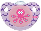 NUK Cute as a Button Sea Creatures Pacifier in Girl Colors, 6-18 Months by