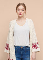 Violeta BY MANGO Textured Cotton Cardigan
