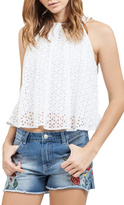 Blu Pepper Eyelet Halter Top