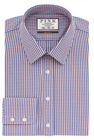 Thomas Pink Meadows Check Super Slim Fit Button Cuff Shirt