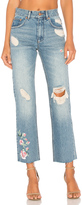 Anine Bing Embroidered Jean