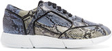 Just Cavalli Snake-print leather sneakers