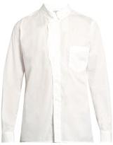 Yohji Yamamoto Waved-placket Cotton-poplin Shirt