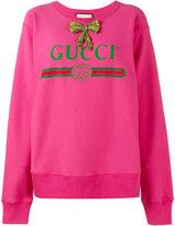 Gucci print oversized sweatshirt - women - Cotton - S