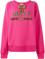 Gucci print oversized sweatshirt - women - Cotton - XS