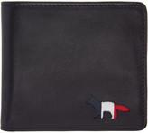 MAISON KITSUNÉ Black Tricolor Fox Wallet