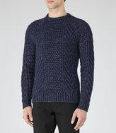 Reiss Reiss Star - Chunky Knit Jumper In Blue