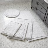 Crate & Barrel Ultra Spa White Bath Rugs