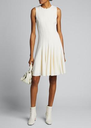 Akris Sleeveless Zip-Front Seamed A-Line Dress