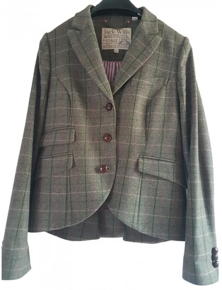 Jack Wills Green Wool Jacket for Women