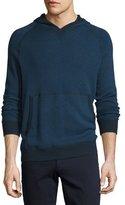 Vince Birdseye Knit Pullover Hoodie, Prussian Blue