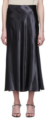 The Row Black Satin Medela Skirt