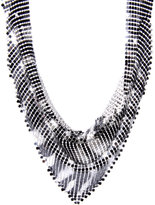 Zebra Print Mesh Statement Necklace