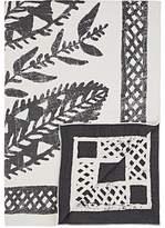 Barneys New York Botanical Leaf-Pattern Merino Wool-Cotton Throw