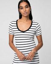 Le Château Stripe Jersey V-Neck Ringer T-Shirt