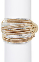 Saachi Sand Multi Tube Wrapped String Bracelet