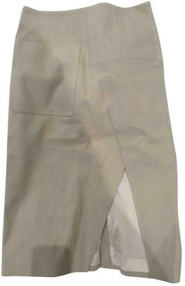 Acne Studios Ecru Cotton Skirt for Women