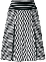 Missoni knitted A-line skirt